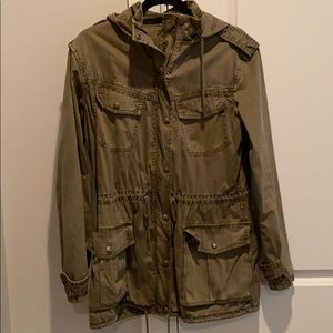 Aritzia Talula Troop Utility Hooded Jacket - Army